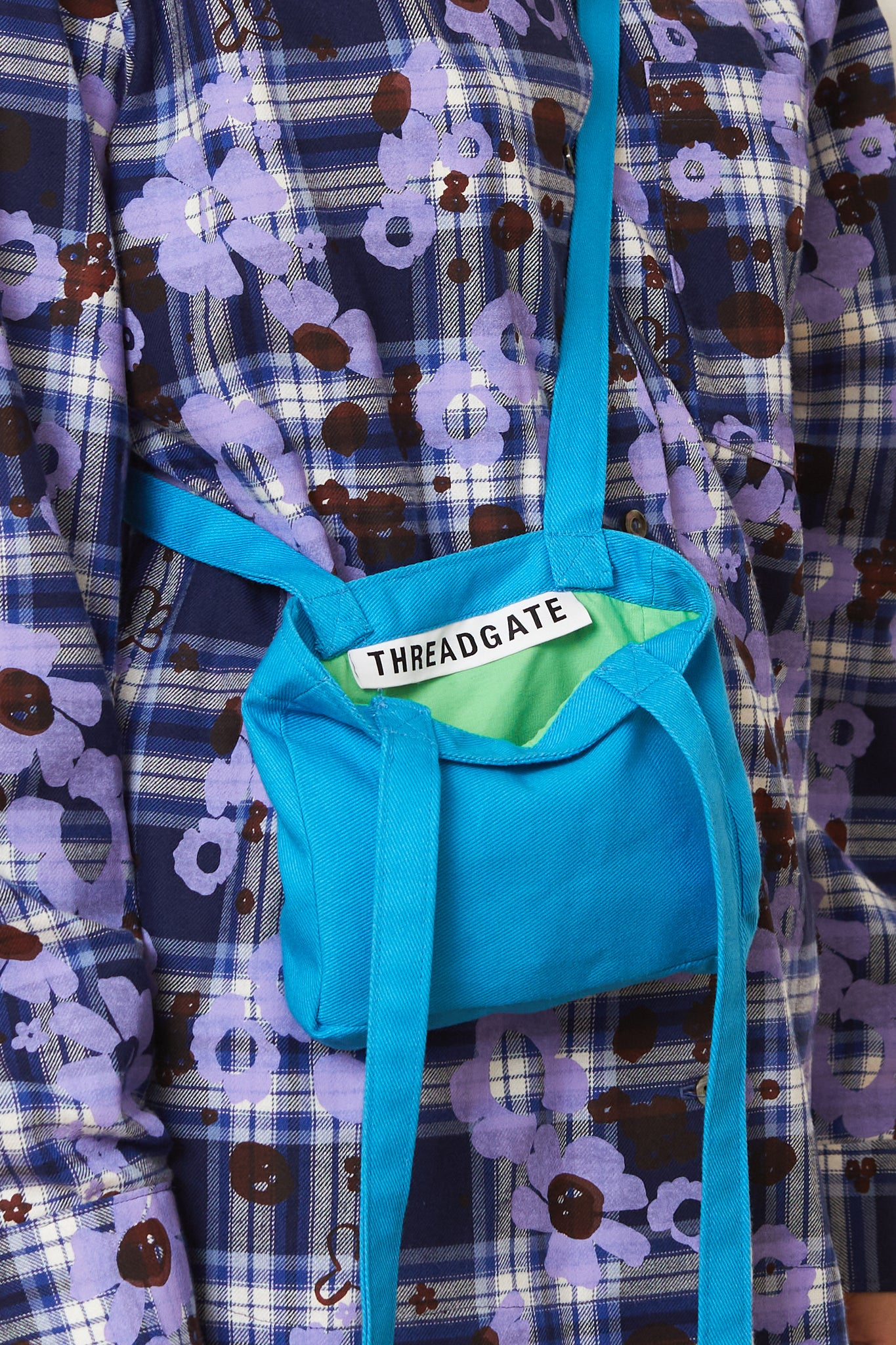 Plain Blue Mini Tote Bag
