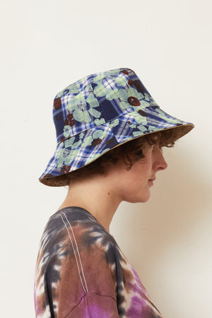 Floral Plaid Bucket Hat