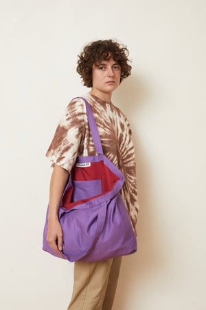 Plain Purple Tote Bag