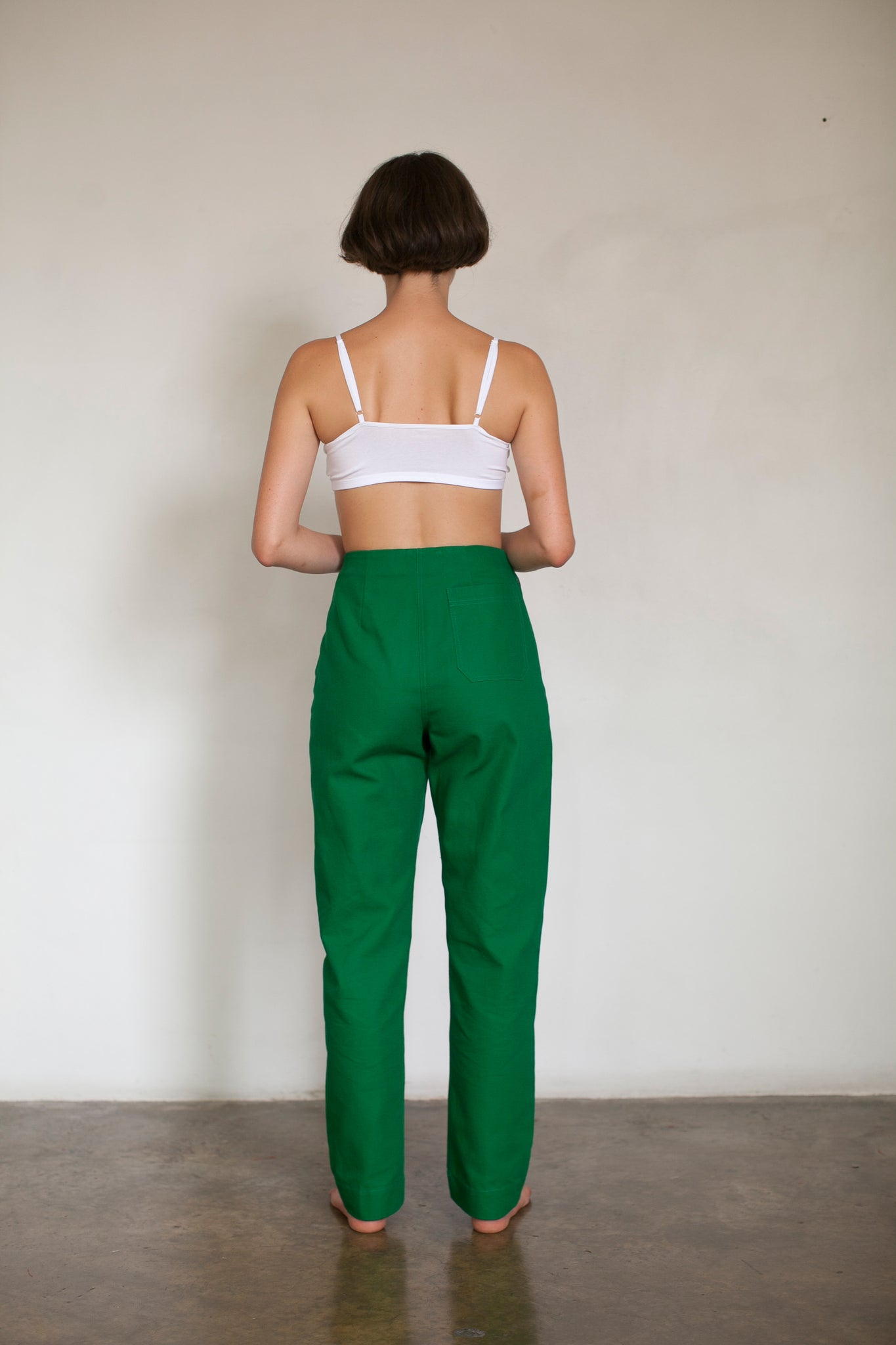Straight Leg Green Pants