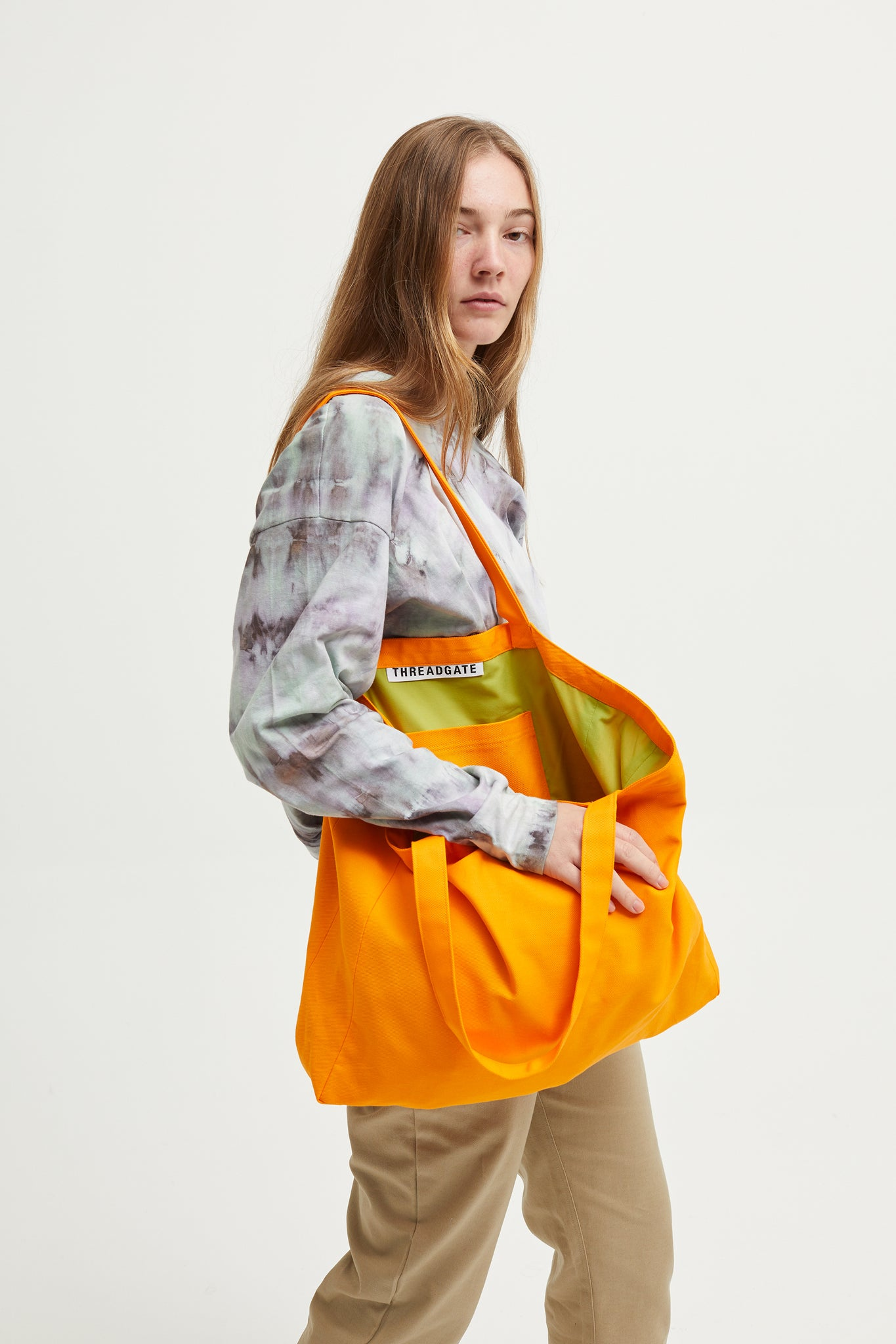 Plain Orange Tote Bag