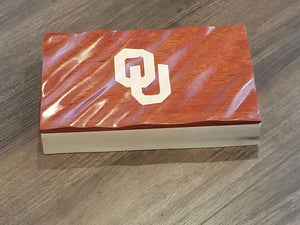 University of Oklahoma Waving Lid 3D jewelry/cigar box