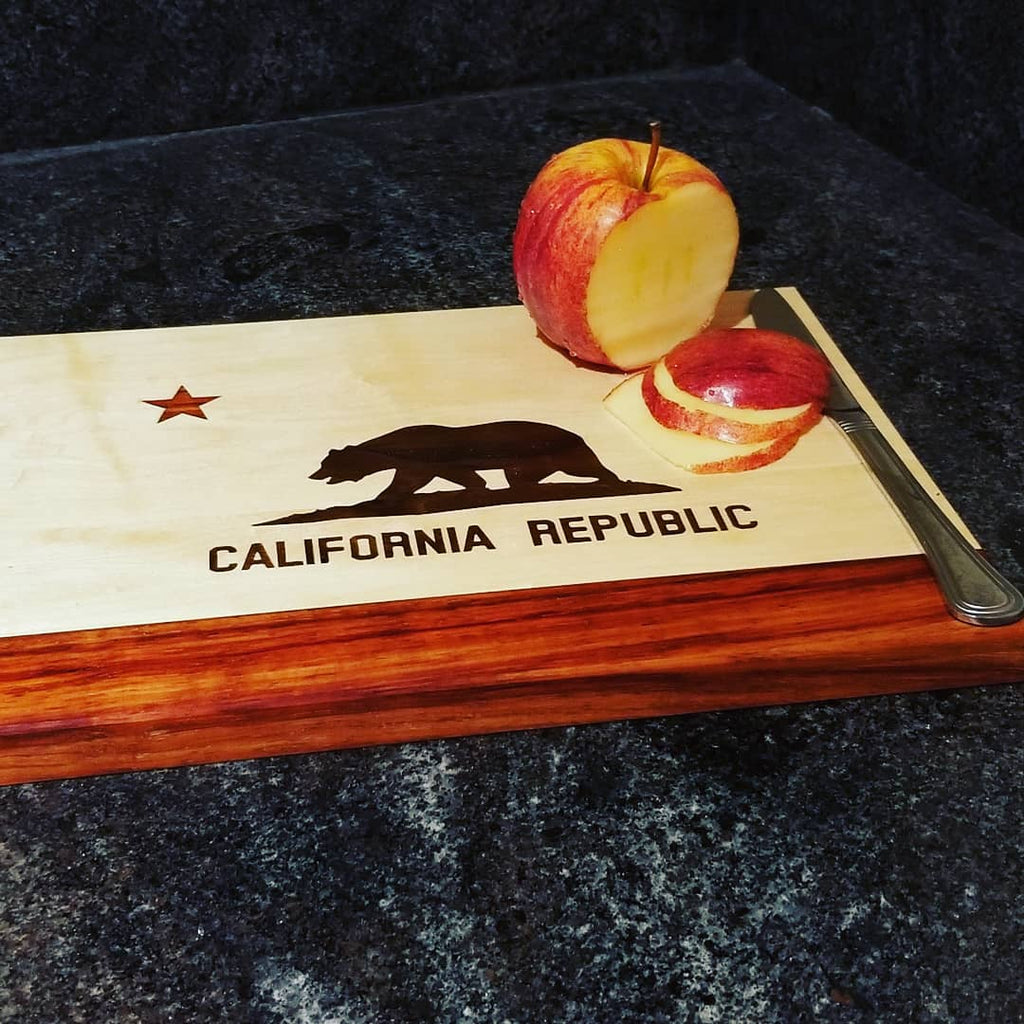 California State Flag Cutting Board