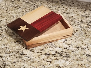 Texas State Flag Solid Wood Box