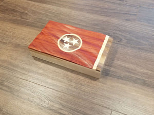 Tennessee State Waving Flag Keepsake Box