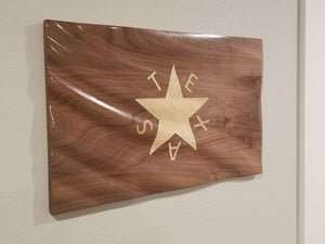 Waving 3D Texas Wall Flag