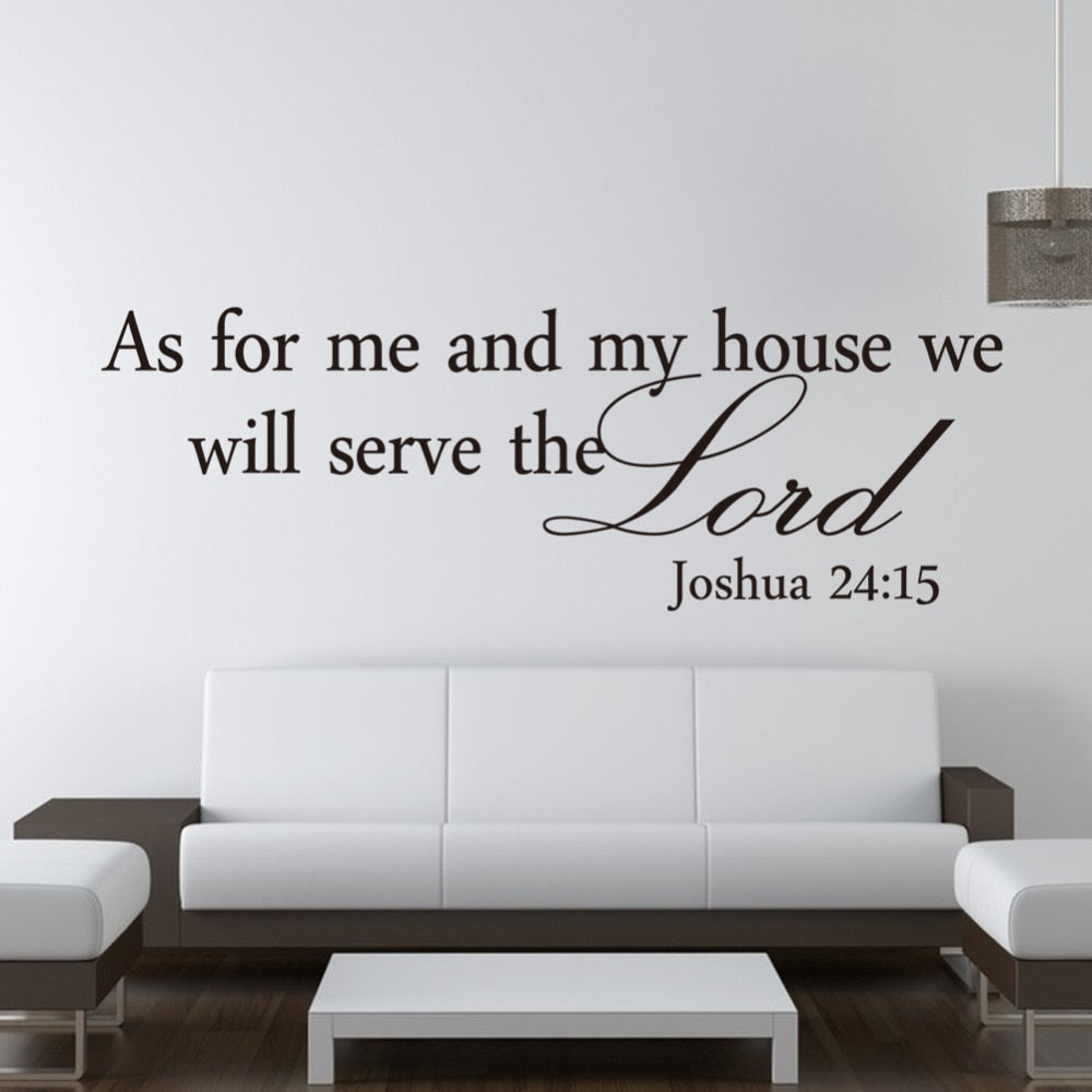 We Will Serve The Lord Wall Stickers