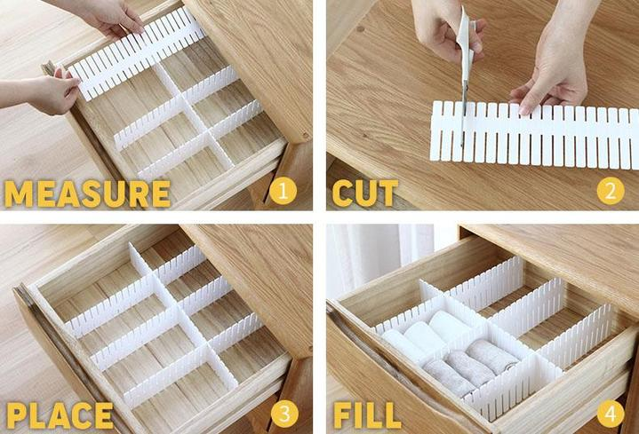 Free Combination Adjustable Drawer Organizer (set of 4)