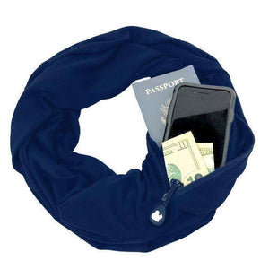 (Hot selling 50,00 items )[70% OFF] - Multi-Use Pocket Scarf with Zippers