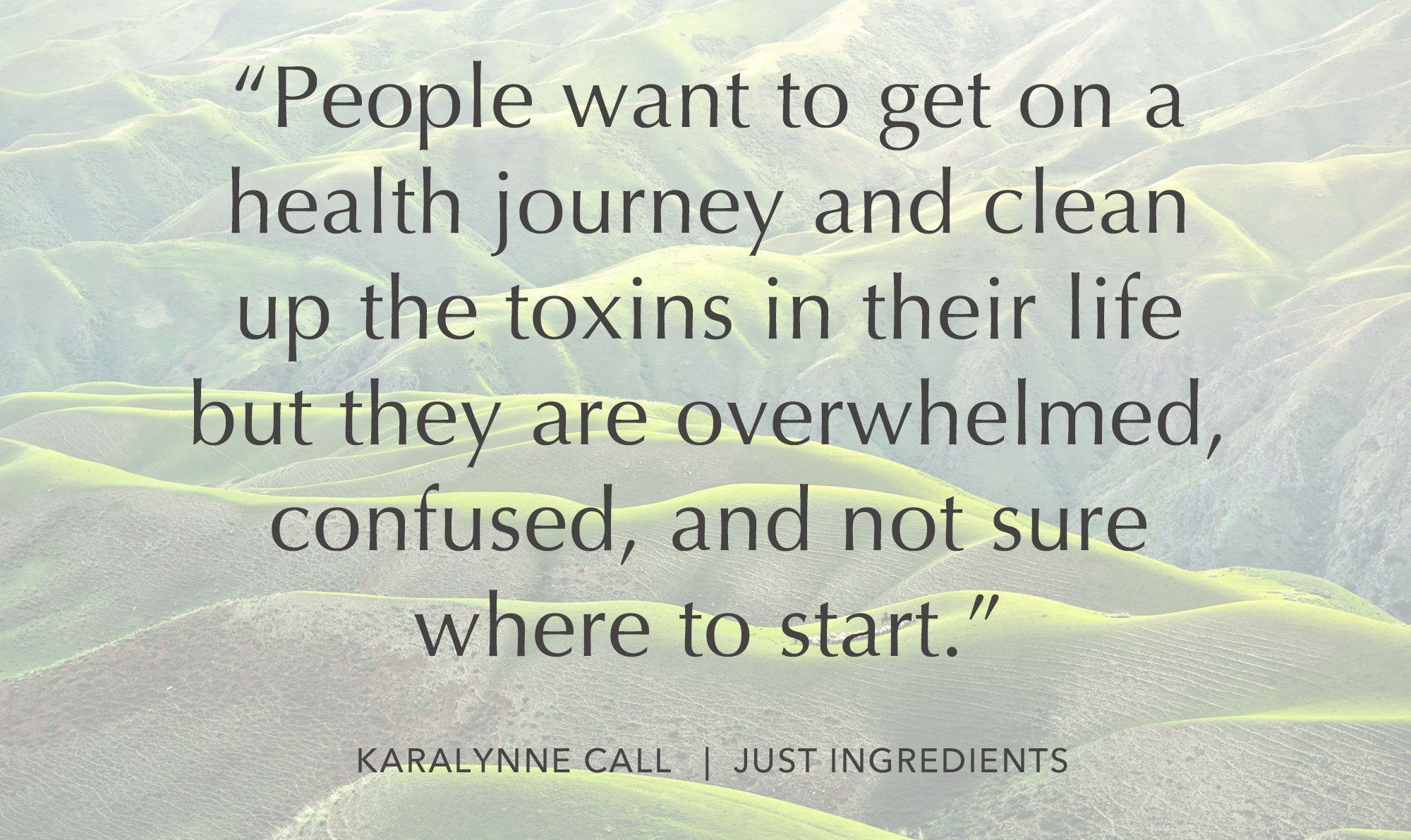 How to reduce toxins and feel healthier in your home with Karalynne of Just Ingredients