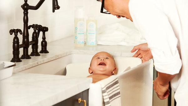 Toxin free natural home baby in bath
