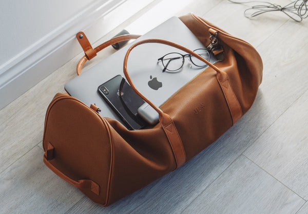 carry on bag full of essential travel items