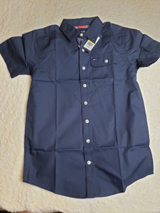 Navy blue Tommy  boys Shirt 12/14