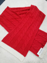 Load image into Gallery viewer, Nautica scarf authentic Red and White