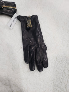 Real leather Mk Authentic Gloves gld