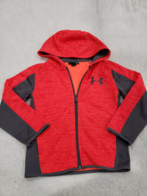 Load image into Gallery viewer, Under Armour boys Hoodie LS 5t Orange multi