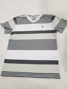 Calvin Klein Boys tshirt 5t white/grey multi