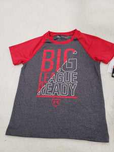 Under Armour boys top 5t Grey/red