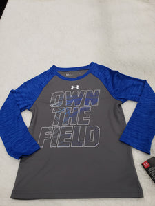 Under Armour boys top LS 5t Grey/blue multi