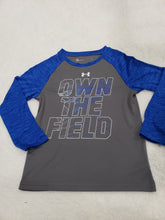 Load image into Gallery viewer, Under Armour boys top LS 5t Grey/blue multi