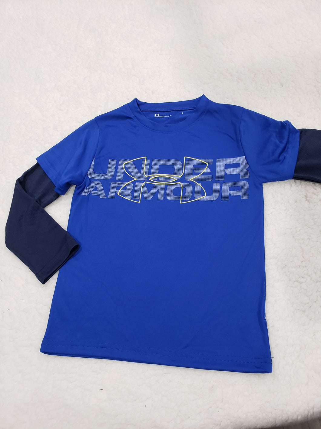 Under Armour boys LS top 5t Blue