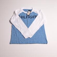 Load image into Gallery viewer, Boys blue/white TH longsleeve tshirt 7