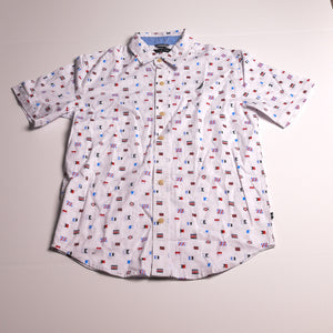 NAUTICA Boys shirt 8/10 multi button down
