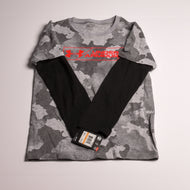 Under Armour boys top 7 grey multi