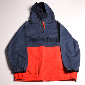 Timberland  boys Hooded Red/blue pullover 8/10