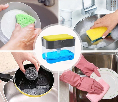 2-in-1 Spongy Soap Dispenser Caddy