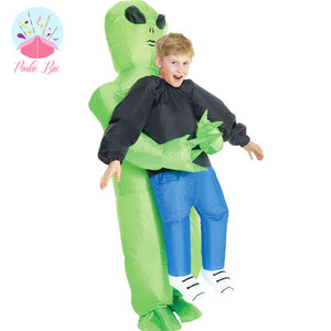 Inflatable Green Alien Abduction Costume