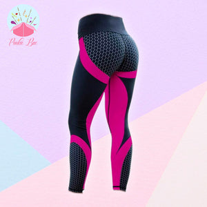 Mesh Patterned Fitness Leggings