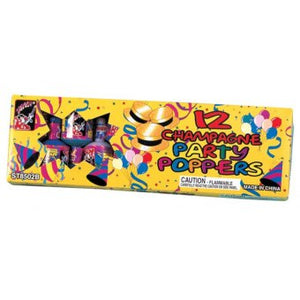 12 Pack Champagne Party Popper