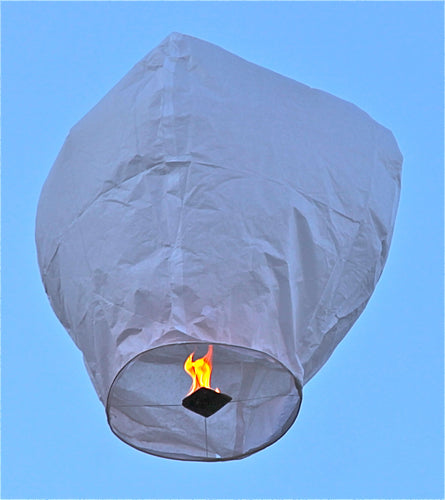Premium White Sky Lanterns - 10 Pack