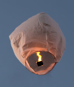Eco-Friendly Premium White Sky Lanterns - 10 Pack