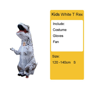 Adult Kids Inflatable Dinosaur Costume T REX women Men Costumes dinosaur Alien Halloween Party Fancy Dress suit Carnival Cosplay