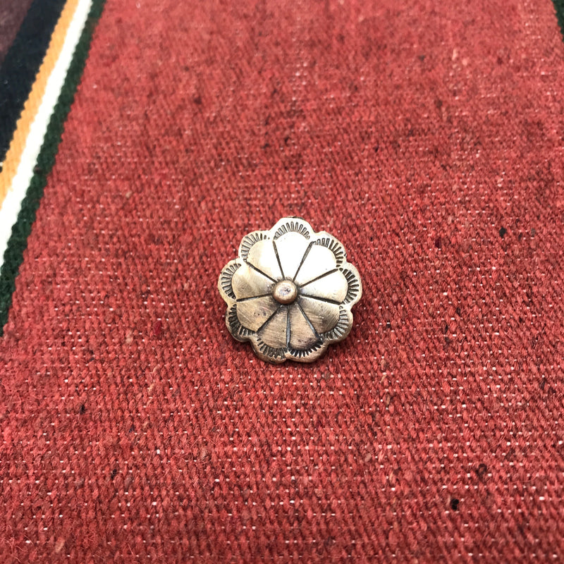 Handmade Bronze Flower Power Hat/Lapel Pin