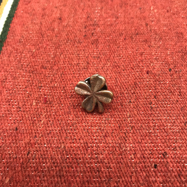 Handmade Bronze Four Leaf Clover Hat Pin/Lapel Pin