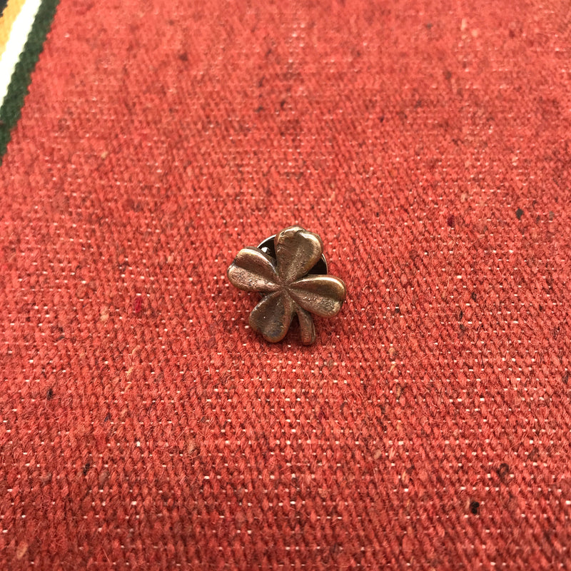 Love Tokens Bronze Four Leaf Clover Hat Pin/Lapel Pin