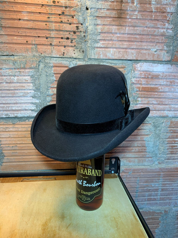 Black Hills 605 The Infamous Gem Bowler Handmade Hat in Belly Hair