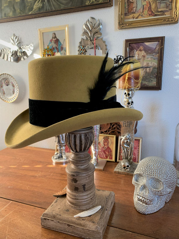 Black Hills 605 1874 Expedition Top Hat Handmade in Belly Hair