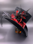 Bad to the bone top hat, wearable art, handcrafted in the USA!