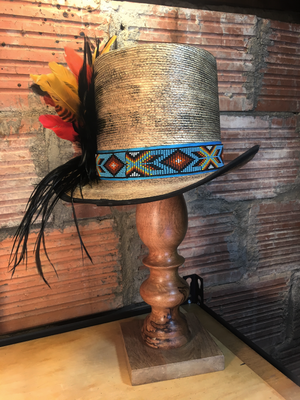 The base may be stock but the rest is all custom.  Be prepared for Spring and Summer with this great top hat!