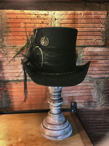 Custom designed, handcrafted,  top hat with custom jewels.