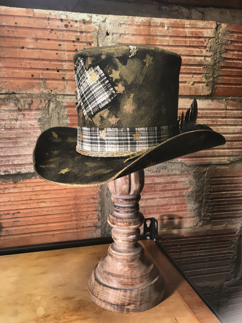 Golden Stars Top Hat One-of-A-Kind