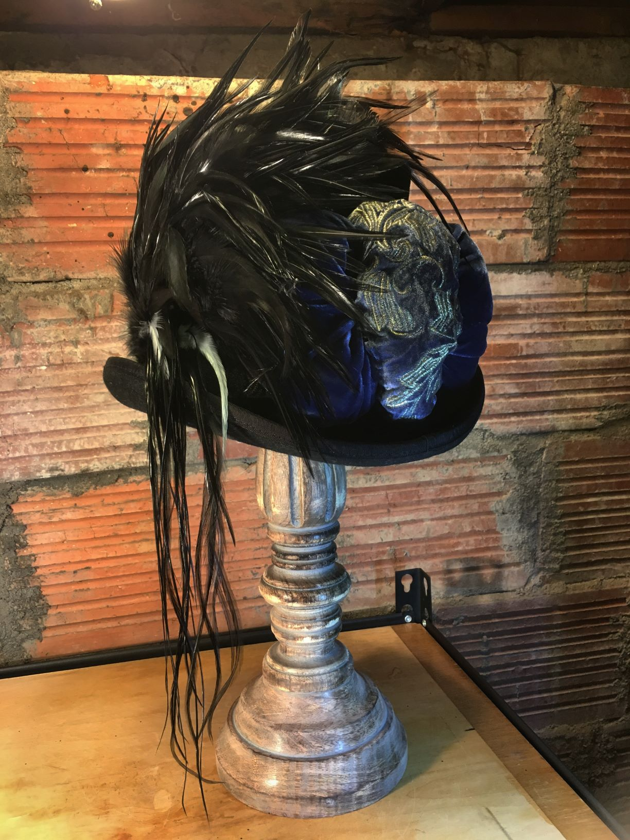 The top hat is our stock hat but the rest is custom.  Wearable art.