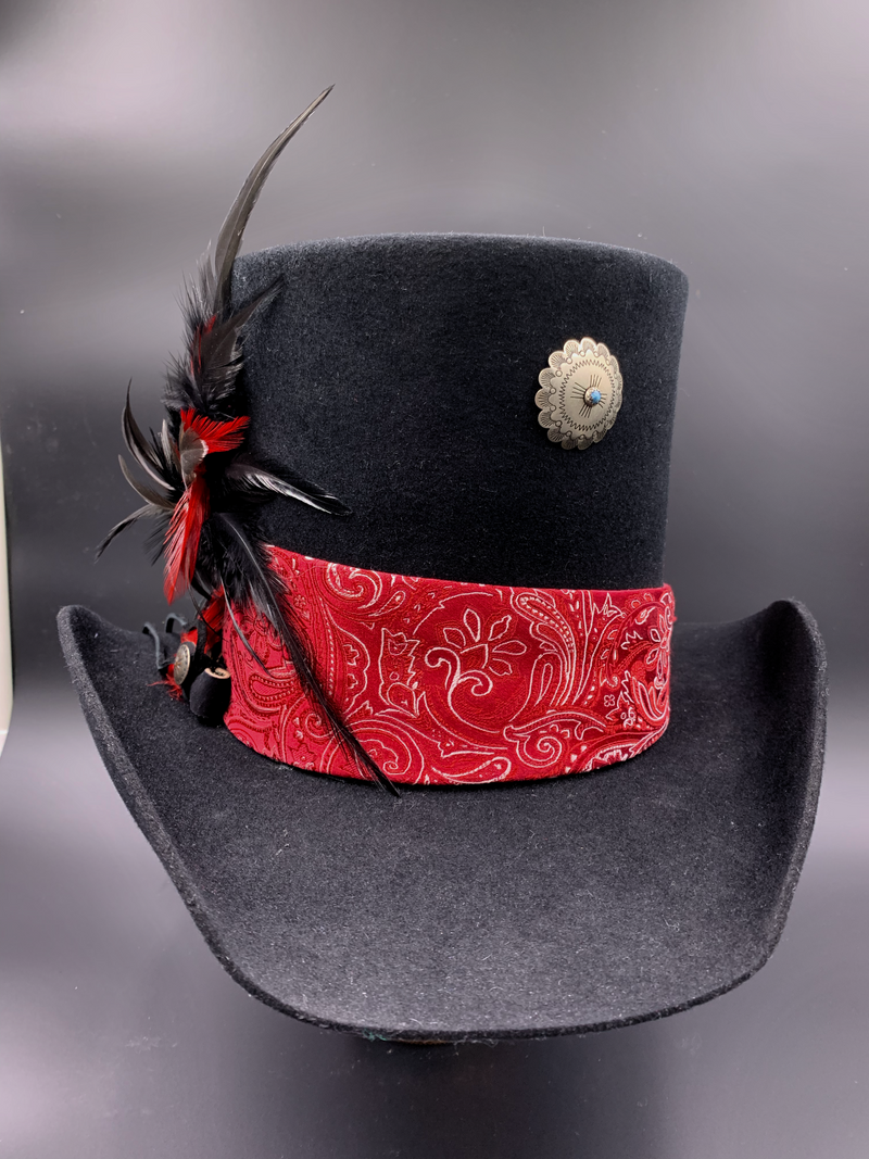 Handcrafted top hat made in Sturgis.