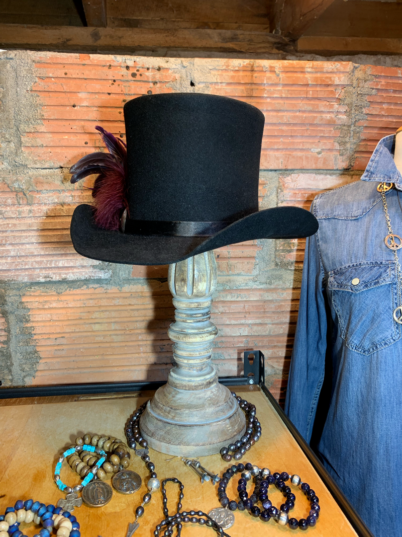 Turn heads with this custom, handcrafted, top hat!