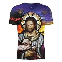Jesus with Lamb All-Over Printing