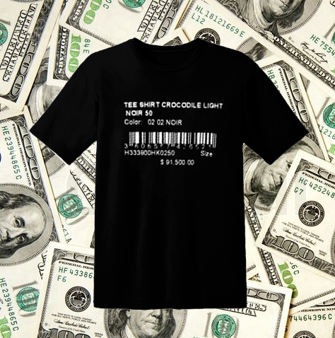 Price Tag T-Shirt in Black